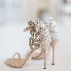 Sergio Rossi Matisse Swarovski Crystal Sandal US8